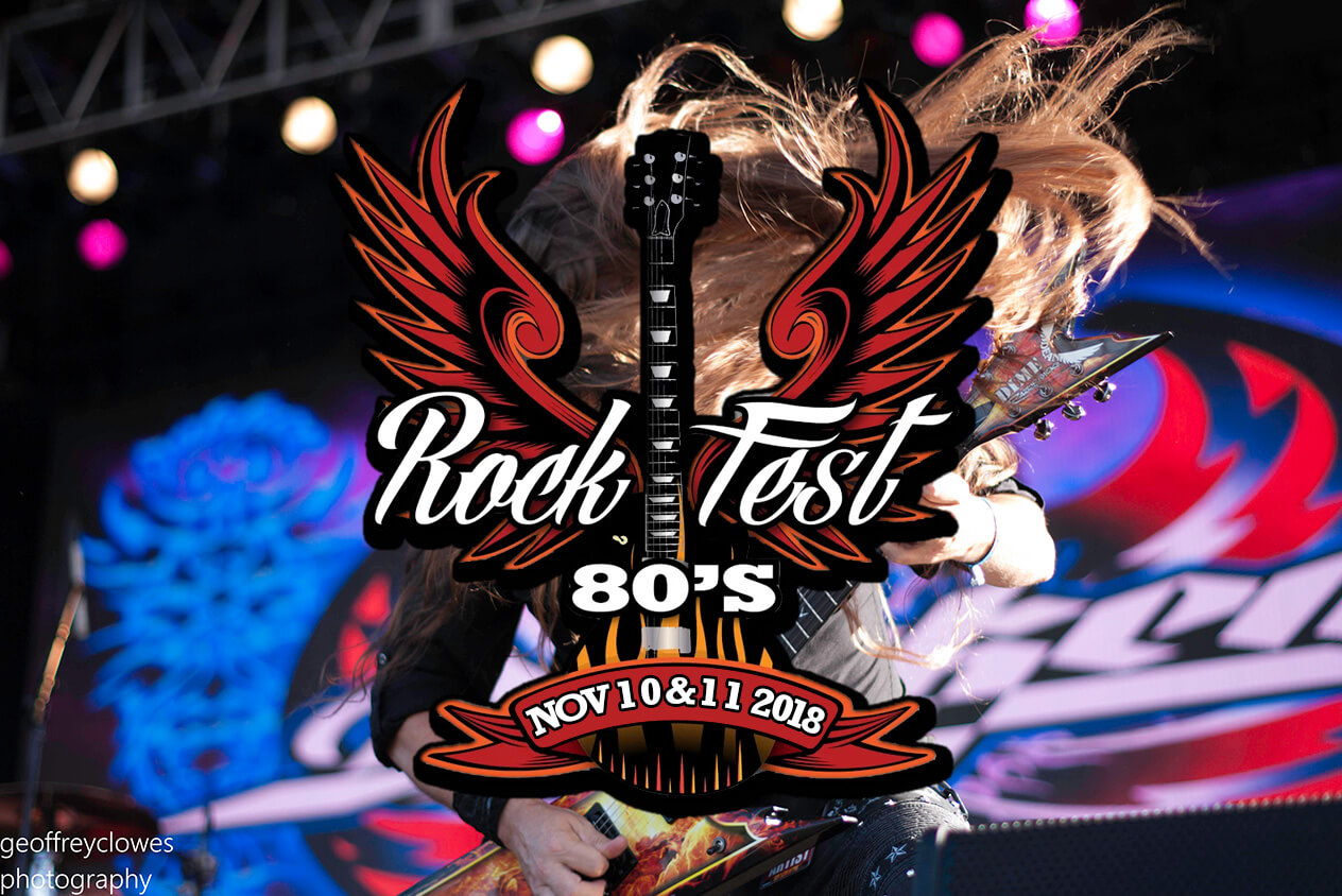 3rd Annual Rockfest 80's Music Festival November 10 and 11, 2018